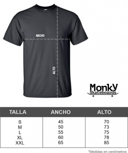 sizes camisetas monkysb
