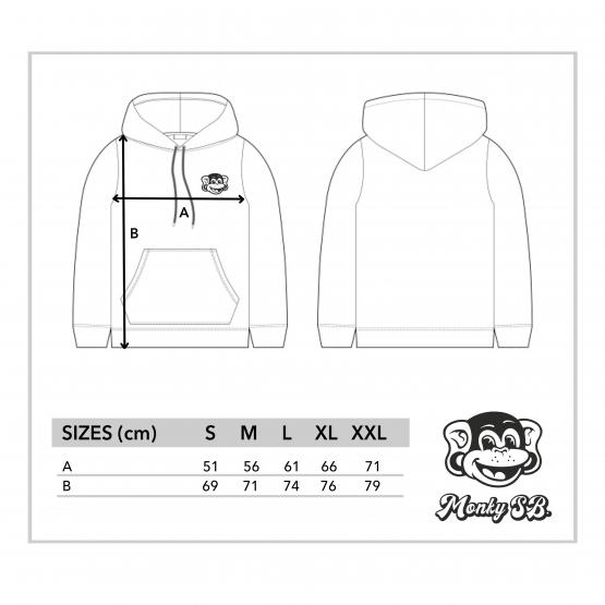 sizes hoodies monkysb